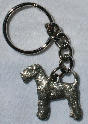 AIREDALE Terrier Dog Fine Pewter Keychain Key Ring New