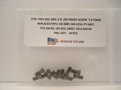 10 Pieces THFC-010 Insert Screw: CO-3007 .. MS-1154 .. PT-543T .. 191.924 ..