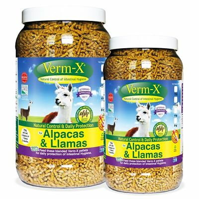 VERM-X HERBAL ALPACA & LLAMA PELLETS natural wormer control intestinal health