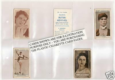 QUALITY PLASTIC Acid Free CIGARETTE CARD PAGES 10 POCKET - Pack of 8 Pages