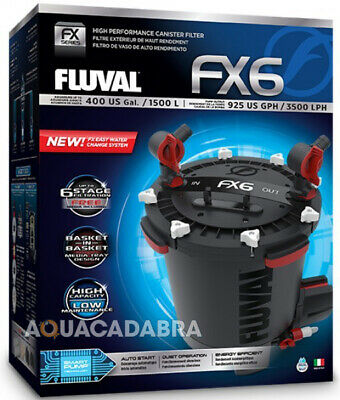 Fluval Fx6 Canister Filter External Filtration Media Fish Tank Aquarium Marine