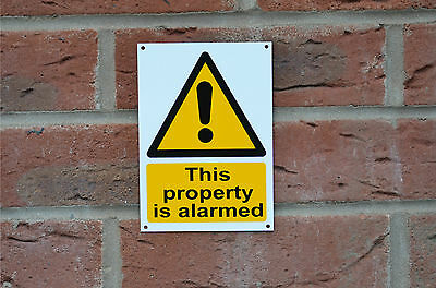 This Property Is Alarmed Security Plastic Sign Or Sticker Choice Of A6 Or A5