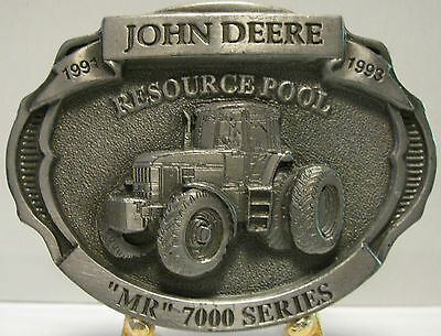 John Deere 7000 Tractor Resource Pool Belt Buckle Limited Edition #085 Pewter jd