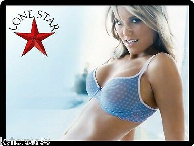 Lonestar Beer Sexy Babe In Blue Top Refrigerator Toolbox Magnet