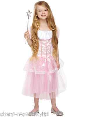 NEW Girls Pretty Pink Princess Fairy Book Day Week Fancy Dress Costume Outfit