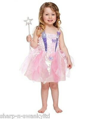 Girls Pink Butterfly Fairy Princess & Wings Fancy Dress Costume Outfit 3 years