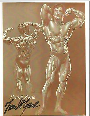 Frank Zane Mr Olympia / Mr World Bodybuilding Muscle Photo Signed