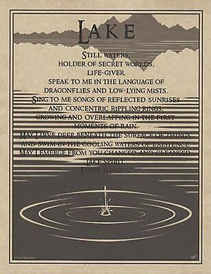 LAKE PRAYER POSTER  A4 SIZE Wicca Pagan Witch Witchcraft Goth BOOK OF SHADOWS