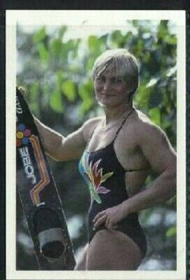 Scarce Trade Card of Karen Morse, Swimming 1986