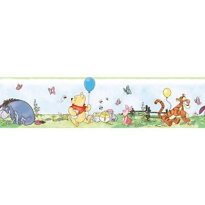 New WINNIE THE POOH WALLPAPER BORDER Baby Nursery or Kids Room Wall Decor