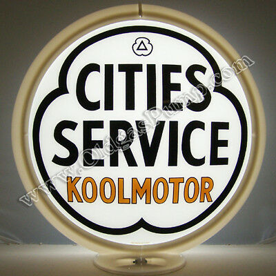 Cities Service Koolmotor Gasoline Gas Pump Globe Free S&h
