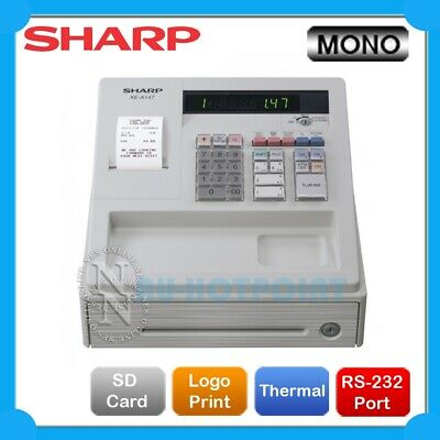 Sharp XE-A107 Cash Register with Locking Cash Drawer UPGRADE to XE-A147 *WHITE*
