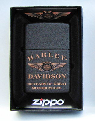 Harley Davidson 110Th Anniversary Zippo Lighter ** Made In The Usa