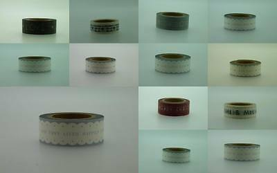 A Selection East Of India Paper Tape in 10metres Weddings Christmas Birthday