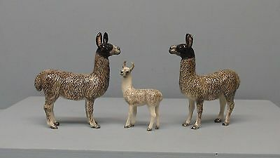 Retired Northern Rose Porcelain Grey  Llama Family of 3