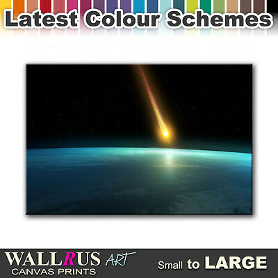 Meteor SPACE & SCIENCE  Canvas Print Framed Photo Picture Wall Artwork WA