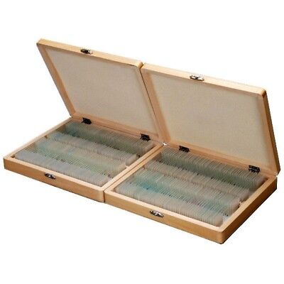 AmScope PS200 200 PC Prepared Microscope Glass Slide Set