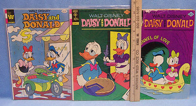 Walt Disney Comic Books Daisy and Donald  2 Golden Key 1 Whitman  Lot of 3