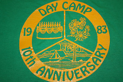 XS / XXS * thin vtg 80s 1983 DAY CAMP t shirt * x small xx small 7.18