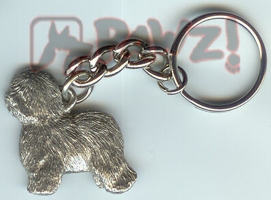 OLD ENGLISH SHEEPDOG Dog Pewter Keychain Key Chain Ring