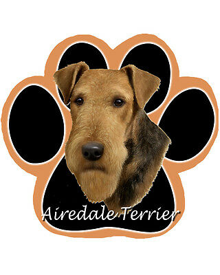 Airedale Terrier Dog Paw Shaped Computer MOUSE PAD Mousepad