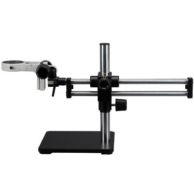 Double Steel Arm Boom Stand for Stereo Microscopes - Pin Mount, 76mm Focus Block