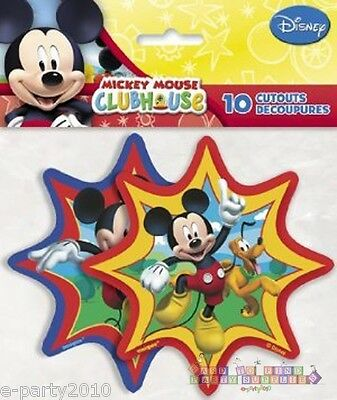 (10) DISNEY MICKEY MOUSE CLUBHOUSE CUTOUTS ~ Birthday Party Supplies