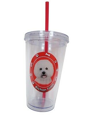 BICHON FRISE Dog Double Wall Eco Friendly 16 oz Drink Tumbler Cup
