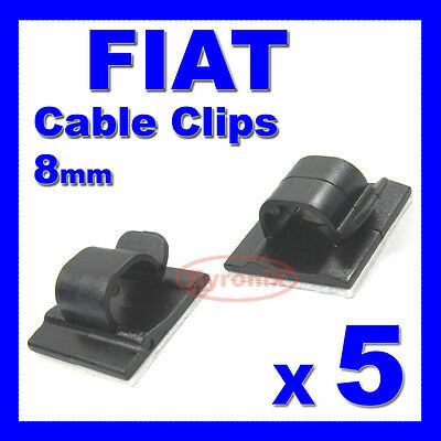 FIAT SELF ADHESIVE CABLE CLIPS WIRING WIRE LOOM HARNESS 8mm HOLDER CLAMP