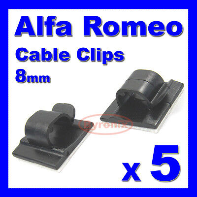 ALFA ROMEO SELF ADHESIVE CABLE CLIPS WIRING WIRE LOOM HARNESS 8mm HOLDER CLAMP