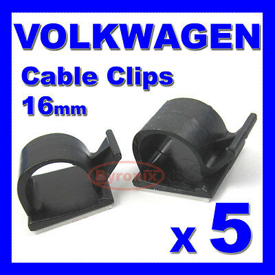 VW SELF ADHESIVE CABLE CLIPS WIRING WIRE LOOM HARNESS 16mm HOLDER CLAMP