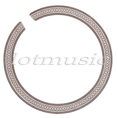 New Style Soundhole Rosette Inlay Maple Wood Acoustic Guitar Body Project