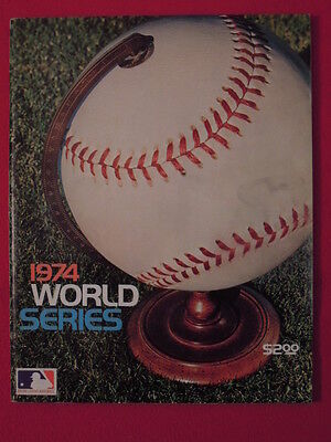 1974 Oakland A's vs Los Angeles Dodgers World Series Baseball Program