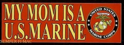 My Mom Is A Us Marine Bumper Sticker Zap Decal Pin Marines Son Daughter Mcrd Wow