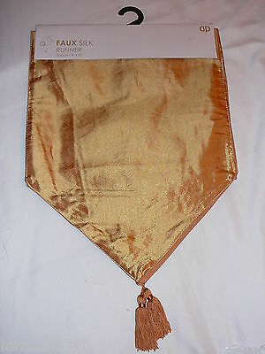 Table Runner Gold Faux Silk Dinner Party Christmas Dining Meal Present Wedding