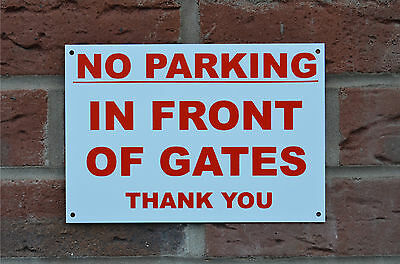 No Parking In Front Of Gates Thank You Sign Or Sticker Choice Of Sizes