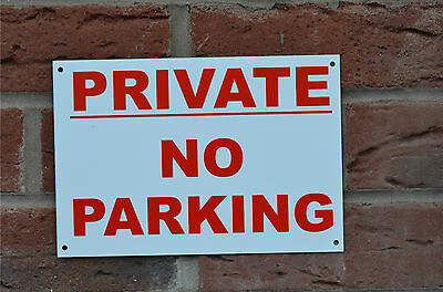 Private No Parking Plastic, Foamex Or Metal Sign Or Sticker Choice Of Sizes