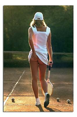 Classic Tennis Girl Large Maxi Wall Poster New - Laminated Available