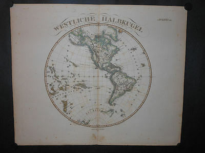Western Hemisphere Canada United States Mexico West Indies 1861 Hand Color Map