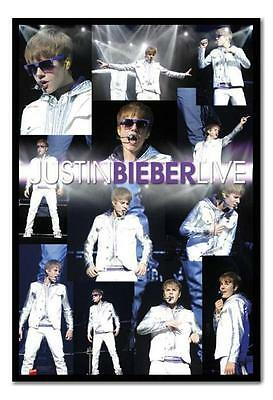 Framed Justin Bieber Live Montage Poster Ready To Hang New