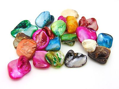 Natural Shell Nugget Beads Mixed Colour Approx 20 Beads Per Pack 16mm-25mm Q193