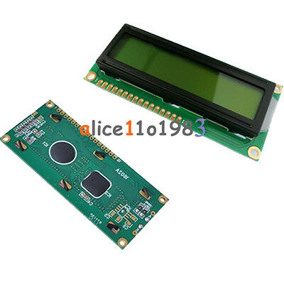 1602 162 16x2 Character LCD Display Module HD44780 Controller Yellow Blacklight