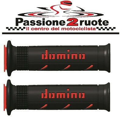 manopole Domino XM2 nero rosso Ducati Monster S2r s4r S4rs 1000 Indiana Gt 1000