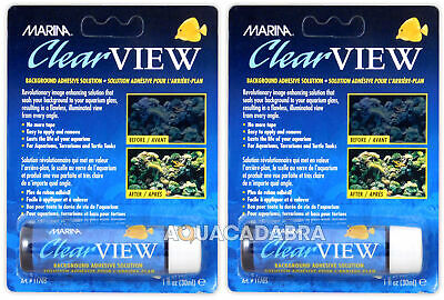 MARINA CLEAR VIEW x2 PACKS BACKGROUND ADHESIVE ANSWER AQUARIUM FISH TANK
