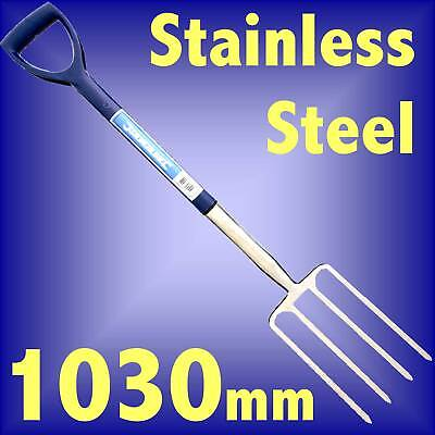 STAINLESS STEEL GARDEN DIGGING FORK 1030mm