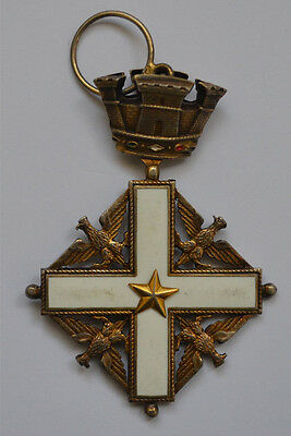 Italy ORDER OF MERIT Cross Enameled Eagle Crown Star Gold plated