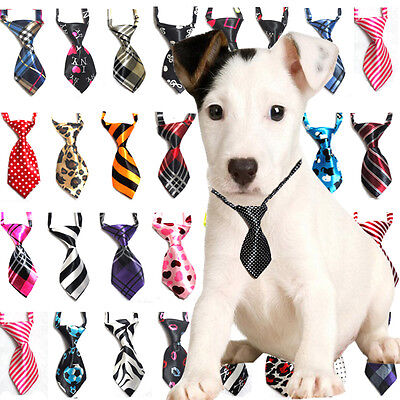 Lot 2~10 PCS Dog Cat Teddy Pet Puppy Toy Kids Grooming Bow Tie Necktie Clothes