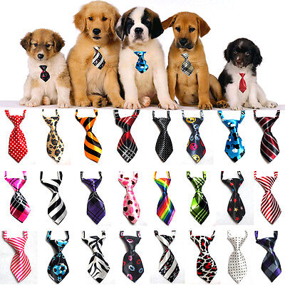 LOT 5/ 100 pcs Dog Cat Yorkie Pet Puppy Toy Grooming Collar Bow Tie Clothes