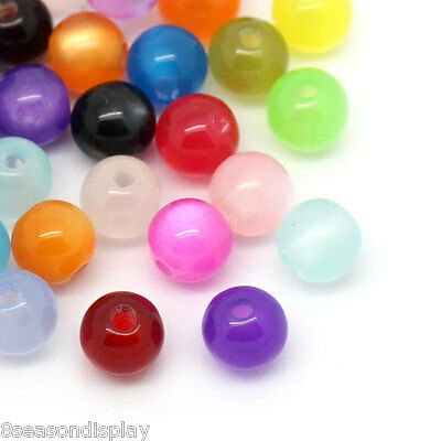 """500PCs Mixed Round Resin Spacer Beads 6mm(2/8"""") Dia."""
