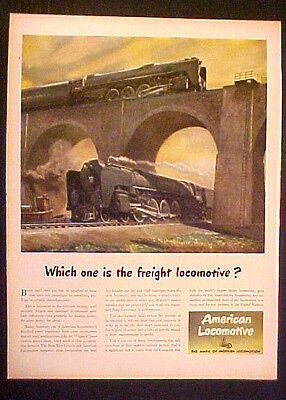 1945 WWII American Locomotive Railroad Military Interchangeable Freight Train AD